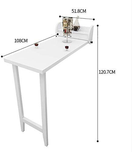 Plegable.ahorro de espacio.Saludable y environment Montado en la pared Mesa plegable Tabel gota hojas de cocina Mesa de comedor escritorio de la pared lateral que cuelga tabla de blanco, color: madera