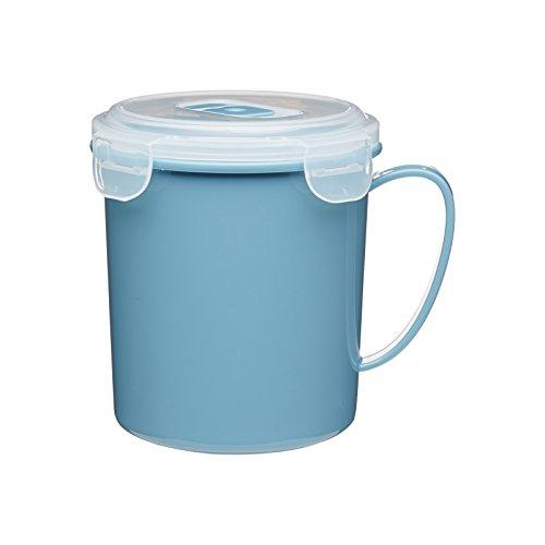 Kitchen Craft KCMMUG Microwave 650ml Soup Mug, Plastique, Bleu, 20 cm