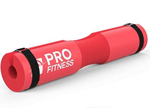 ProFitness Langhantel-Polster, Kniebeugen-Polster, Übungspolster für Hüftstoß, Kniebeugen und Ausfallschritte, bequemster Kniebeugenschwamm (rot)