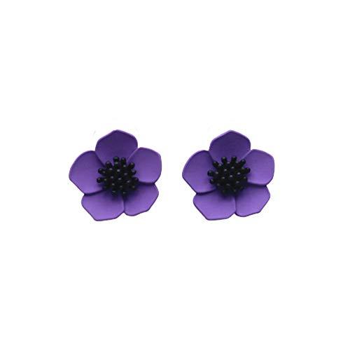 EXINOX Pendientes Flores | Mujer | (Morado)