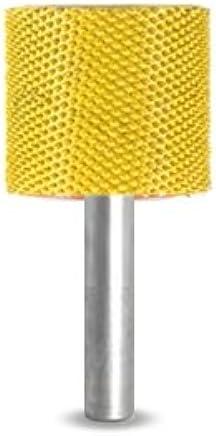 """Saburr Tooth 14C58LSE Yellow 1//4/"""" Shank Cylinder Safe End 5//8/"""" Fine Grit Carving"""