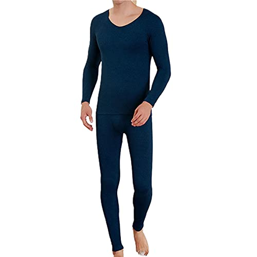 Home Suit Soft Comfy Home Suit Transpirable Anti-encogimiento Azul Marino
