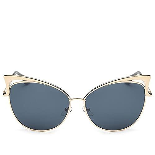 SLAKF Gafas duraderas Gafas de Sol Gato Gafas de Sol Retro Vintage Gafas de Sol para Las Mujeres señoras Mujer Gafas de Sol Espejo (Frame Color : Colors, Lenses Color : Blue)