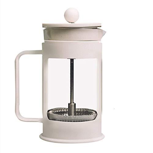 Vobajf Caffettiere a pistone Premere Il Vaso di Vetro Filtro da caffè tè e caffè Filtro Francese Flush Press Pot Manuale della Famiglia di Coffee Pot cafetieres (Colore : White, Size : 900lm)