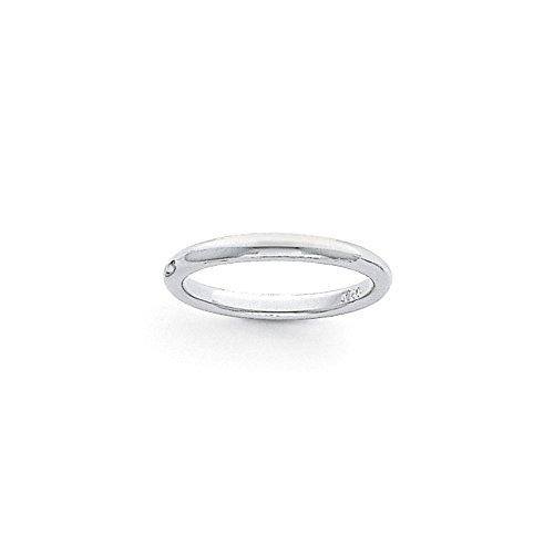 Alianza de boda de platino de 3 mm, media redonda, ajuste cómodo, ligera, talla 5 para mujer