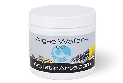 Aquatic Arts Algae Wafers (8 Ounce) Sinking Food for Live Aquarium Shrimp, Fish (Pleco/Tetra), Snails, and Bottom Feeders | High Protein Spirulina Blend Fish Food for Fish Tank Aquariums