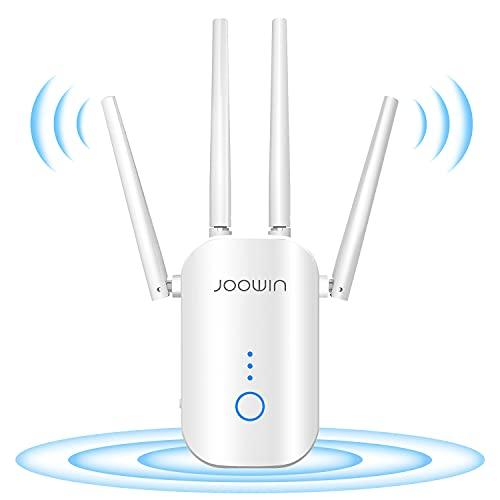 JOOWIN Ripetitore WiFi 1200Mbps Amplificatore WiFi Dual Band 5GHz & 2.4GHz, Wireless Ripetitore Segnale WiFi Supporta Modalità Router/AP/Bridge/Ripetitore, Extender WiFi con Cavo Ethernet
