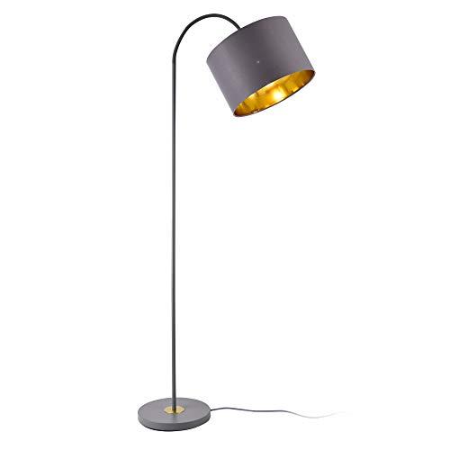 lux.pro Stehleuchte Toledo 173cm 1xE27 Stehlampe schwenkbare Standleuchte Metall Grau