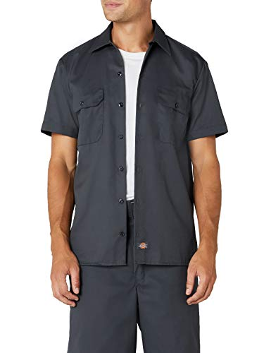 Dickies Herren Freizeithemd Work Shirt Short Sleeved, Charcoal Grey, Medium