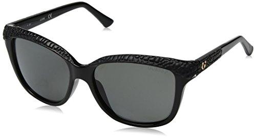 Guess Unisex-Erwachsene GU7401 01D 56 Sonnenbrille, Schwarz (Nero Lucido/Fumo Polar)