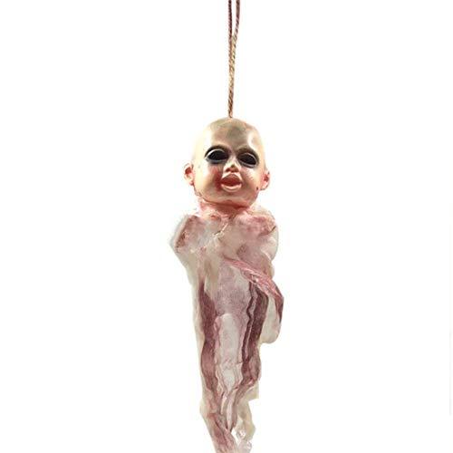 QHWJ Halloween Dekoration Hanging Ghost, Baby Bloody Skull Schädel Requisiten Vorhang Vorhang Schädel Requisiten, Für Party Cosplay Bar Spukhaus KTV Indoor Und Outdoor,style1