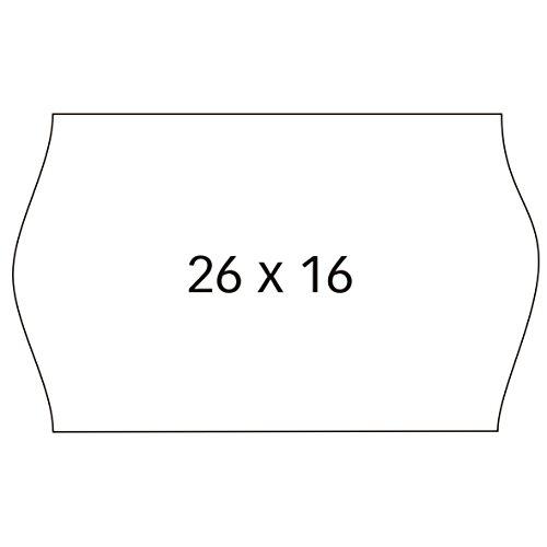 APLI 100922 - Pack de 6 rollos para etiquetadora, color blanco, 26 x 16 mm
