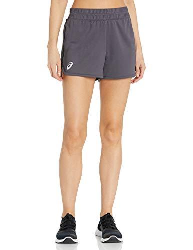 ASICS Pantalón corto de punto para mujer de 7,62 cm. - 2162A082, Pantalones cortos de punto de 7.6 cm., M, Team Steel Grey
