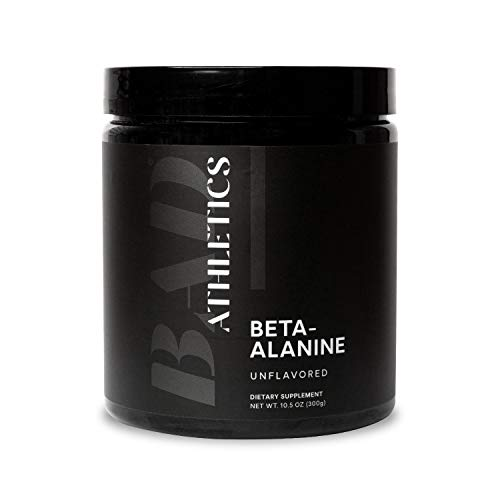 Bad Athletics Beta Alanine Powder 300 Grams | Train Harder & Get Stronger | 100 Unflavored Servings