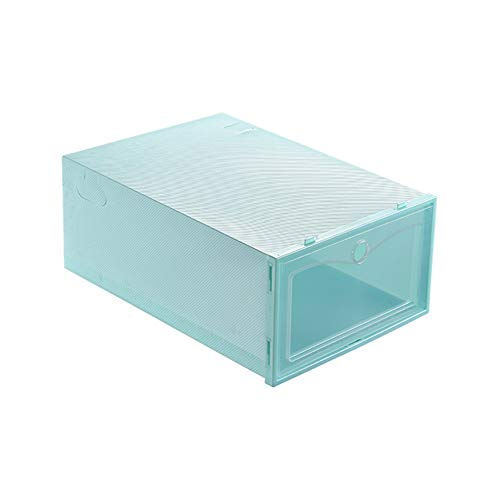 HHuin Caja de Zapatos de plástico Transparente Caja de Almacenamiento de Zapatos Caja de Zapatos Cubierta abatible Cajón Almacenamiento de Zapatos Artefacto Engrosamiento