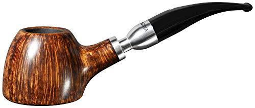 Vauen Pfeife Serie Venti glatt braun, Bruyereholz, Verbindungsstück Alu, 9mm-Mundstück