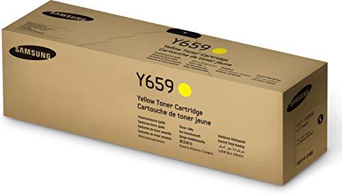 Samsung CLT-Y659S/ELS Original Toner (Kompatibel mit: CLX-8640ND/8650ND) gelb