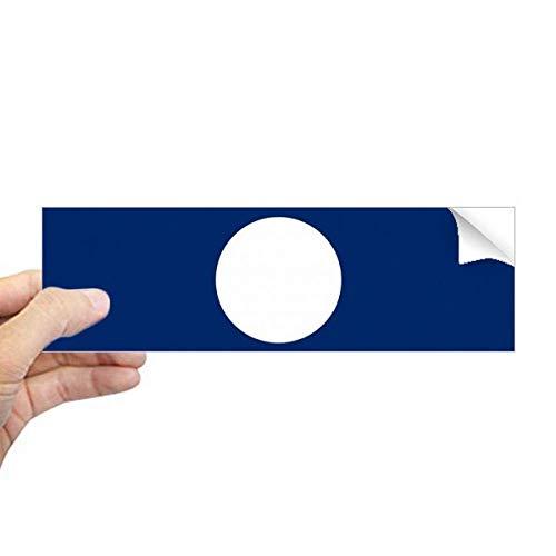 DIYthinker Laos Nationale Vlag Azië Land Rechthoek Bumper Sticker Notebook Window Decal