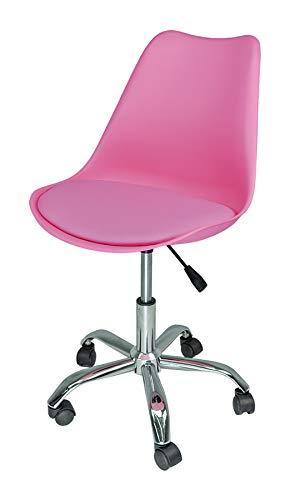 Sedia da ufficio girevole, sedia da scrivania fucsia con rotelle mod. SALLY