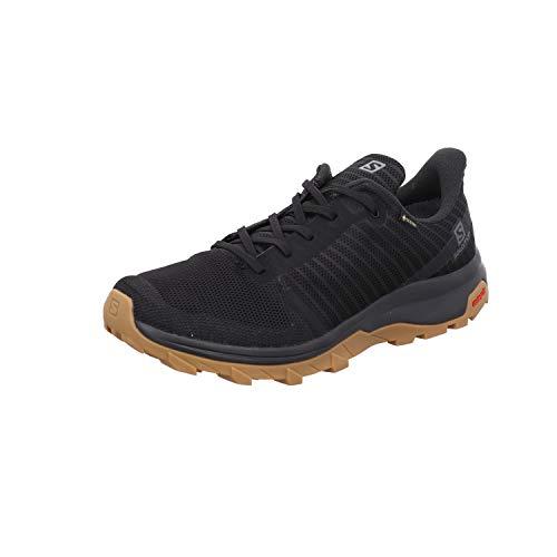 Salomon Outbound Prism Gore- Tex (impermeable) Hombre Zapatos de trekking,  Negro (Black/Black/Gum1a),  47 # EU
