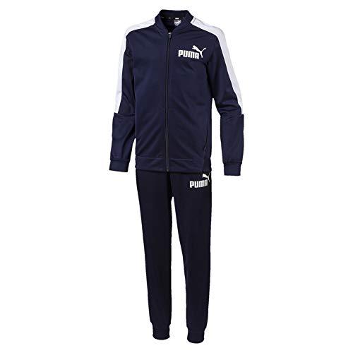 PUMA Jungen Baseball Collar Track Suit B Trainingsanzug, Peacoat, 104
