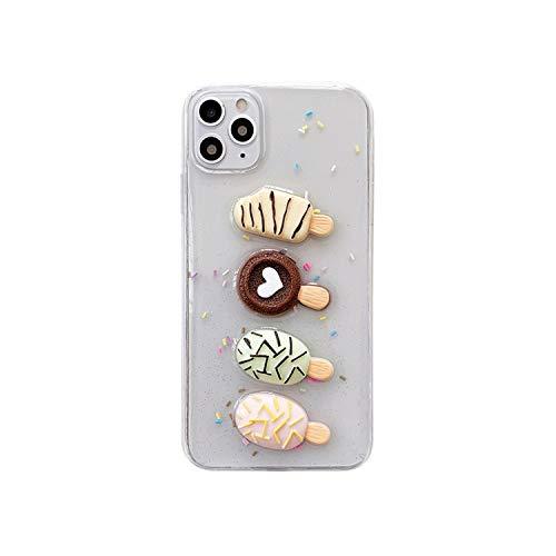 3D Lindo Pizza Pan Claro Teléfono Caso Para iPhone SE 2020 11 Pro XR X 7 8 Plus XS Max Fashion Case Epoxy Soft TPU Back Cover Nuevo