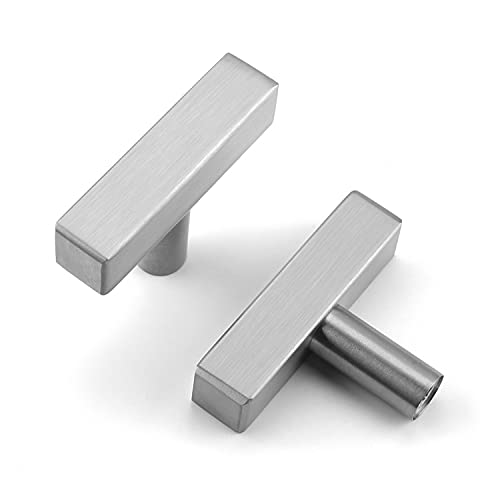 OYX   20 Pack Brushed Nickel Cabinet Knobs Stainless Steel Cabinet Door Knobs Drawer Knobs Kitchen Door Knobs for Cabinets Knobs for Cabinet and Drawer Square Bar Cabinet Pull