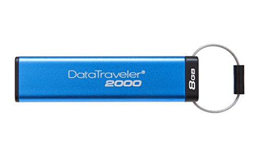 Kingston DataTraveler 2000 - DT2000/8GB verschlüsselter USB 3.0 Speicher (mit Tastatur)