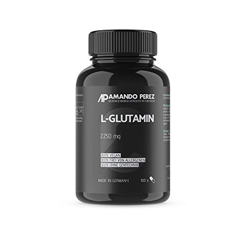 L-Glutamin Matrix Formel 2250 mg pro Tagesverzehrmenge • 100 Kapseln • Hochdosiert • Made in Germany