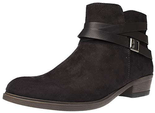 Fitters Footwear That Fits Polly Microfibre Damen Stiefelette Bootie mit Blackabsatz und Riemchen...