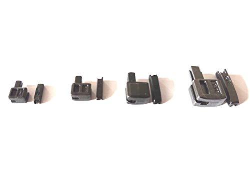 ZAMAK Reißverschlüsse Reparatur Set Gr. 3, 5, 8,10 Steckteil und Kastenteil Farbe Oxid-Schwarz
