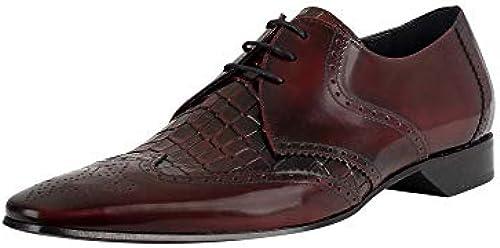 Jeffery West Herren Leder Derby Schuhe, Rot