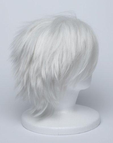 『【コスプレ】 ウィッグ NARUTO はたけカカシ 風 白髪 銀髪 衣装 道具 小物 ナルト ウィッグネット カカシ』の4枚目の画像