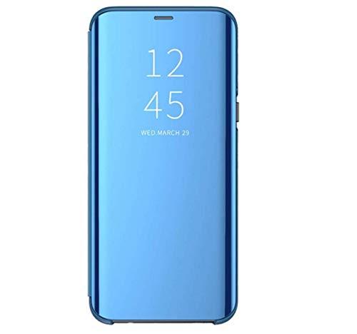 Funda Xiaomi Mi 10T Lite 5G, versión actualizada Protección de 360 grados Xiaomi Mi 10T Lite 5G Clear View Cover protectora Mirror Screen Flip placa Stand Case turquesa Medium