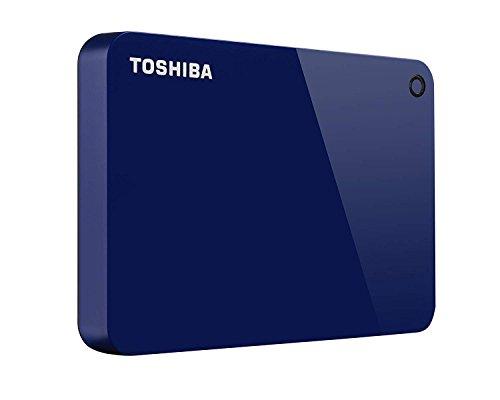 Toshiba Canvio Advance 2TB Portable External Hard Drive USB 3.0, Blue - HDTC920XL3AA