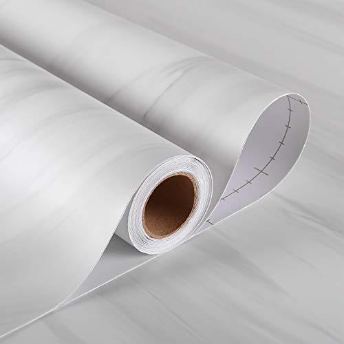 Stickyart 36'x160' Marble Countertop Contact Paper for Bathroom Waterproof Matte...