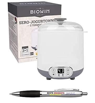 Beste Angebote Joghurtbereiter 1.5 Liter frischen Joghurt Maschine YoghurtMaker + Thermostat