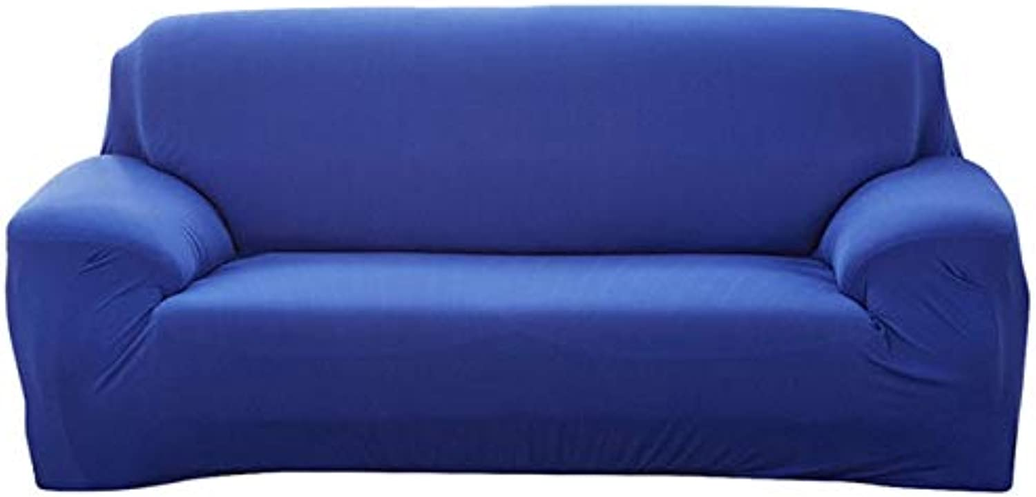 PlenTree Modern Decorative Elastic Sofa Cover Solid color Fashion Sofa Slip for lig Room Stretchable Couch Cover Cushion  Royal, 1 Seater