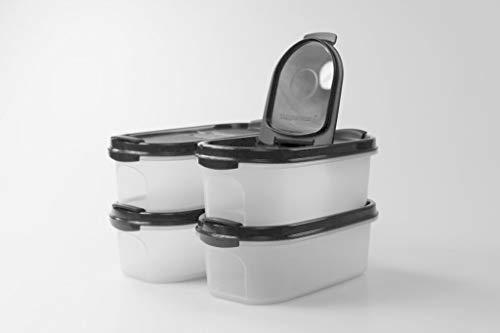Tupperware Eidgenosse 500 ml schwarz mit Schütte Vorrat Dose Box Modular (4)