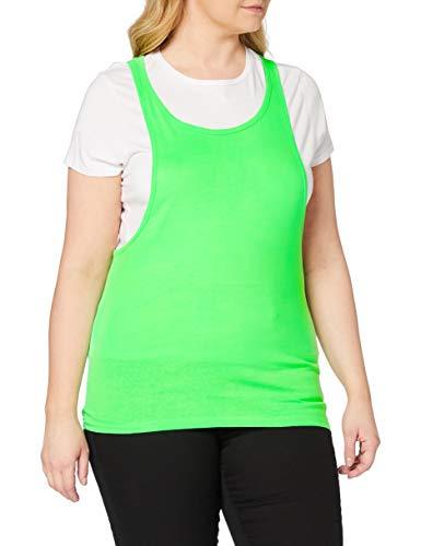 Urban Classics Ladies Loose Burnout Tanktop T-Shirt de Sport, Vert (Neongreen), (Taille Fabricant: Medium) Femme
