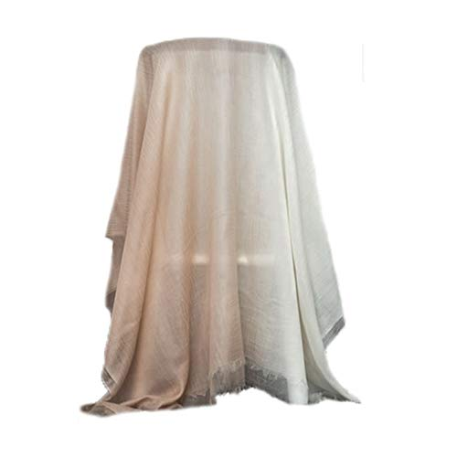 OUMIFA Bufanda Pañuelo de Cachemira Ultrafino Bufanda de Color Degradado de la Moda Simple Mantón de protección Solar Largo de Doble Uso Bufanda Caliente (Color : Pink)