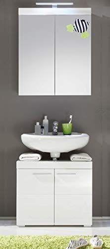 Preisvergleich Produktbild Amanda Badmöbel weiß Design 2-teilig