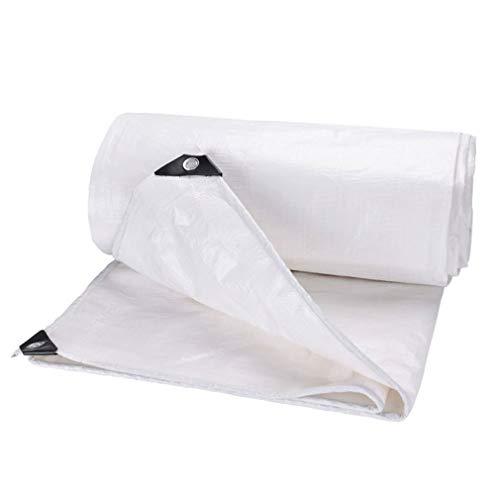MAGFYLY Gartenmöbel Abdeckung,Schutzhülle Abdeckplane Weiße PE-Plane Hochleistungs-wasserdichte 3 x 4 m große Plane mit Ösen for Camping im Freien, doppelt laminiert und UV-geschützt