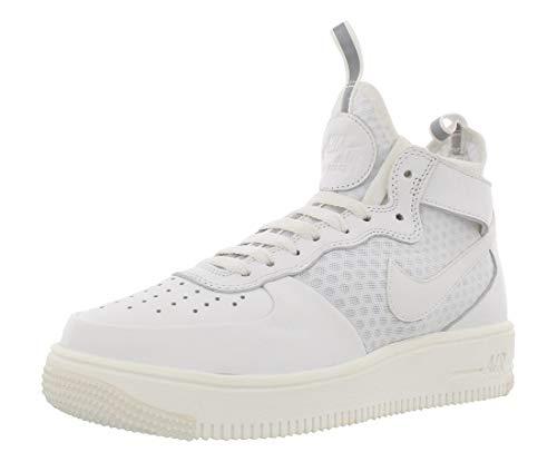 Nike Nike Damen W Air Force 1 Ultraforce Mid Gymnastikschuhe, Elfenbein (Summit White/Summit White/Pure Platinum), 36.5 EU