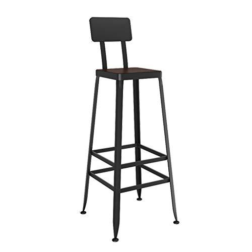 Reposapiés Silla De Taburetes Silla De Bar Retro Industrial Style Respaldo High Stool Furniture Coc