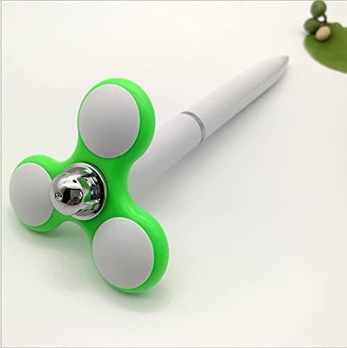Zzalo Spinning Top Pen Fingerip Spinning Top Ballpoint Presión Presión Reducción Llén Lindo Pening Pen Dibujos Animados Spinning Top Top (Color : Green)