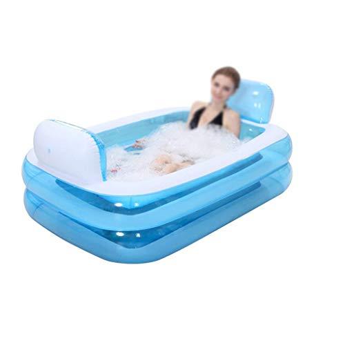 Natación de la familia de la bañera inflable, piscina inflable plegable inflable gruesas adultos Bañera multifuncional piscina Family Water Park (Color: azul, tamaño: 152 * 108 * 50cm) kairui JIAJIAFU
