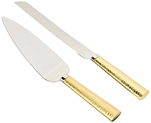 "Weddingstar NCK5G flatware-cake-servers, 11"" Cake Server & 13"" Cake Knife, Gold"