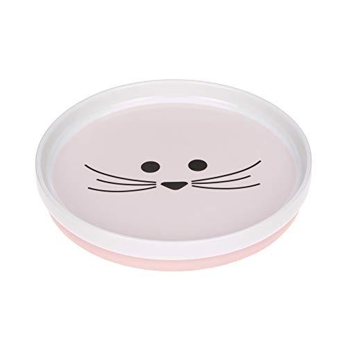 LÄSSIG Assiette porcelaine/Plate Porcelain/ Little Chums Mouse , Rosa