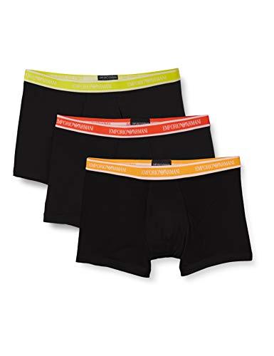 Emporio Armani Underwear 3-Pack Boxer Core Logoband, Nero/Nero/Nero, XL Uomo